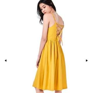 TEM ahnna lace-up midi dress