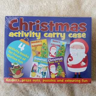 Christmas activity carry case