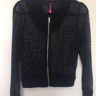 Net zip hoodie