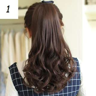 Natural Ponytail Hair Extension (Natural Black/Light Brown/Chestnut Brown/Dark Brown) (Long/Short)