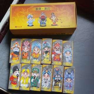 北京京劇人物火柴盒-套