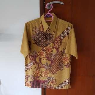 Brown batik shirt #awaltahun
