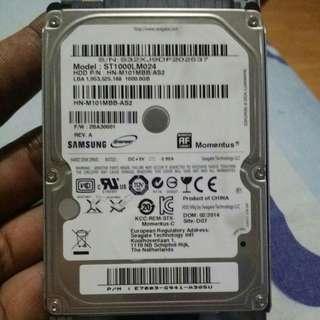 samsung harddisk 1 TB for laptop
