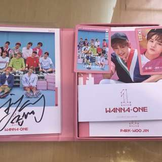 Bae Jin Young signature Wanna One pink album including postage