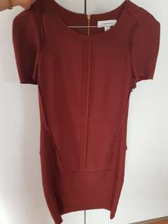 Country road work dress oxblood