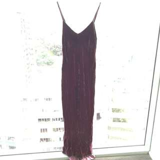 Helen Cherry Workshop Crushed Velvet Dress, size M