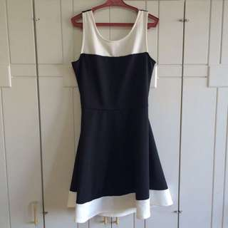 HnM Navy And White Dress
