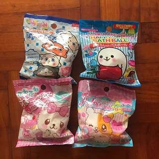 Cute Character Bath bombs with toy