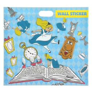 Japan Disneystore Disney Store Alice in Wonderland Alice Big & Small Wall Stickers