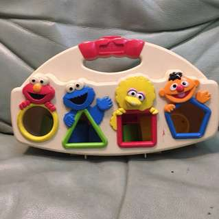 Sesame Street shape blocks