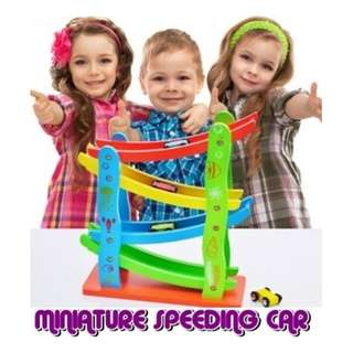 Baby Wooden Toys Miniature Speeding Car kids Educational Toys