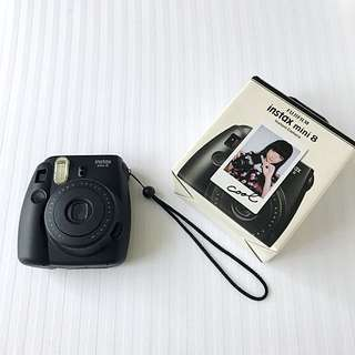Used Once with Free Film! Authentic Fuji Film Instax Mini 8 Instant Camera