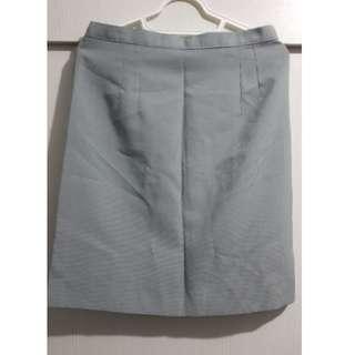 Gray office skirt