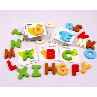 Alphabet Digital Puzzle Flash Card
