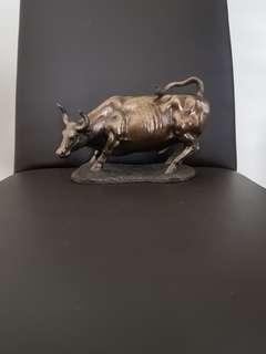 Metal bull figurine