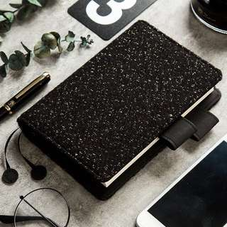 Black Wool Hobonichi Planner Cover