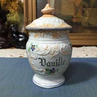 歐洲老手繪蓋罐