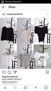 100rb get 3! Sweater shirt sweatshirt sabrina kimono outher inner saleee