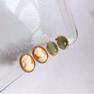 Skin&Moss復古vintage歐美耳環耳夾維多利亞大耳環古董名品耳環精品飾品