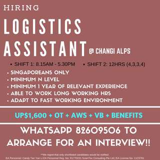 LOGISITCS ASSISTANT || EAST || FRENCH MNC