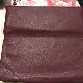 Reversible makeup bag