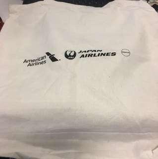 American Airlines & Japan Airlines side bag