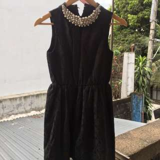Black Dress with Embellishment