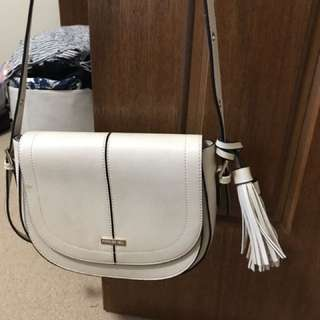 Forever new white cross body bag