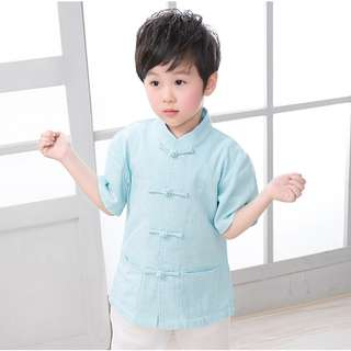 ☑️ INSTOCKS 2-10Y Boys Chinese New Year outfit A100C16B