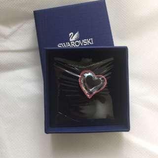 Swarovski 心形水晶粉紅頸鏈