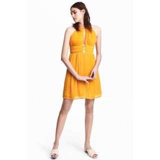 H&M Pleated Halterneck Dress