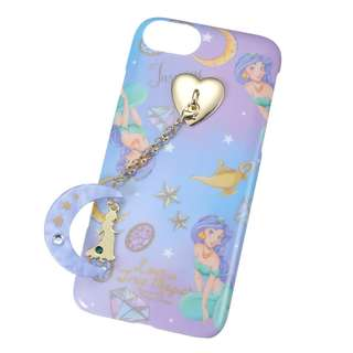 日本 Disney Store 直送阿拉丁茉莉公主 iPhone 6/6S/7/8 保護殻連Phone Stand及吊飾