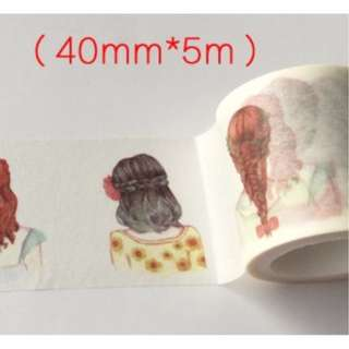 Girl Hairstyle Washi Tape