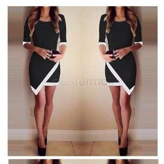 BN black dress v dress OL dress Korean