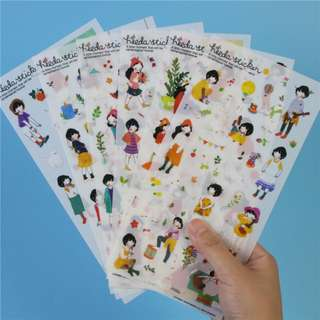 Korean Heeda Sticker Set of 6 sheets