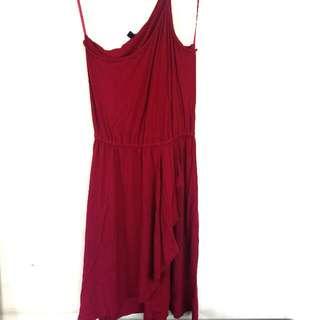 [FLASH SALE!] Red One Shoulder Dress