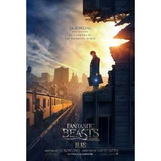 PRE💙D Fantastic Beasts And Where To Find Them Official Movie Poster