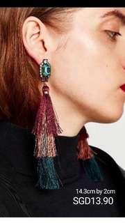 Tassel Earrings / Fringe Earrings / Huge Earrings
