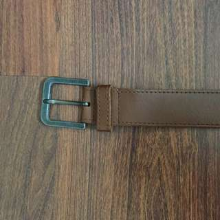 TOPMAN Genuine Leather Brown Belt