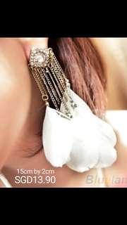 Feather Earrings / Fringe Earrings / Tassel Earring