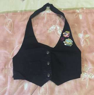 G! Black Halter Vest