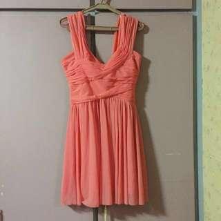 Topshop chiffon cocktail dress