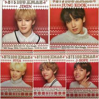 RARE BTS JAPAN Shibuya 109 XMAS Original trading card photocard pop up store
