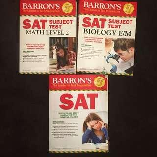 Baron's SAT books