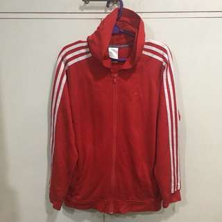 Authentic Adidas Red Track Jacket