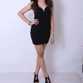 Black Bodycon Dress - Forever21 - Size S