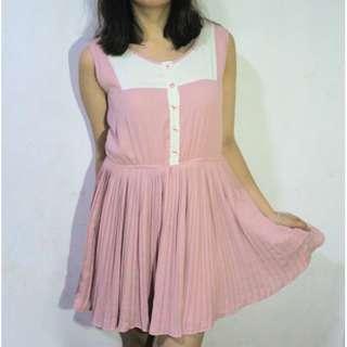Repriced! Pink Button-Down Dress