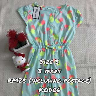 Jumpsuit Girl green abstract