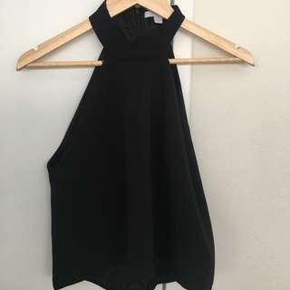 Kookai Fashion Black Top Size 38