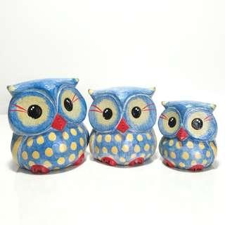 Owl Family - Blue